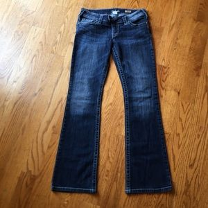"""EUC Silver jeans """"Tuesday bootcut"""" size 29/33"""